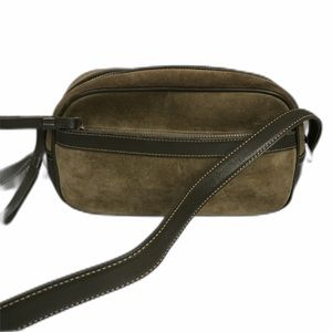 Vintage Coach #9439 olive suede/leather pouchette